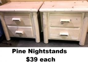 Nightstands-Pine