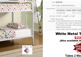 Coaster-White-Bunk-Bed