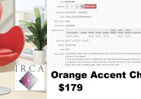 Orange-Accent-Chair