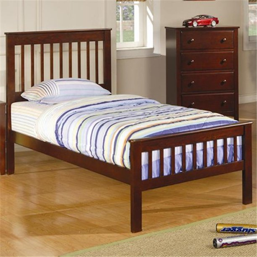 CHESTNUT SLATTED TWIN BED