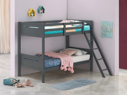 TWIN/TWIN GRAY BUNK BED