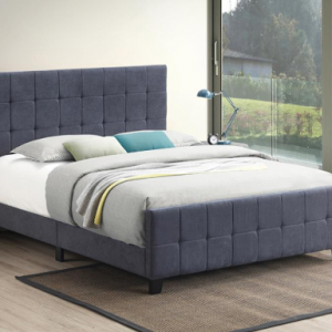 EASTERN KING UPHOLSTERED BED FAIRFIELD CHARCOAL GRAY