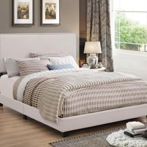 FULL IVORY BOYD UPHOLSTERED BED