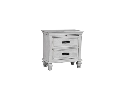 FRANCO ANTIQUE WHITE NIGHTSTAND