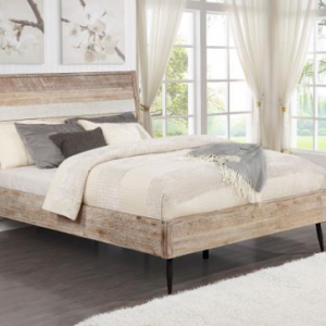 QUEEN BED MARLOW ROUGH SAWN