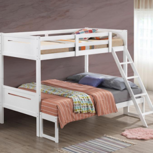 TWIN/FULL WHITE BUNK BED