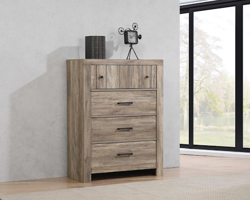 ADELAIDE RUSTIC OAK CHEST OF DRAWERS