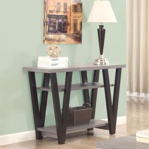 SOFA TABLE: BLACK AND GRAY