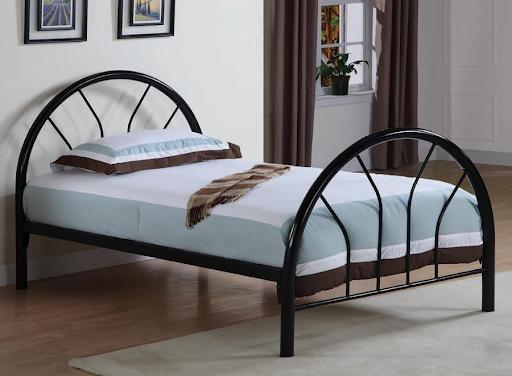 BLACK METAL TWIN BED