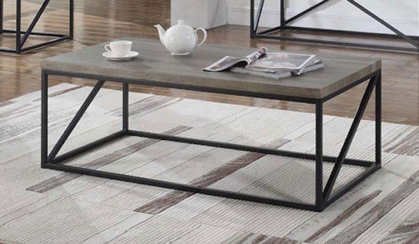 705618 SONOMA GRAY RECTANGULAR COFFEE TABLE